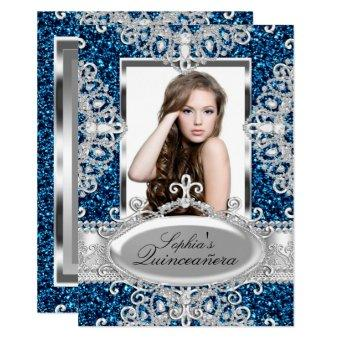 Royal Blue Glitter Diamond Glamour