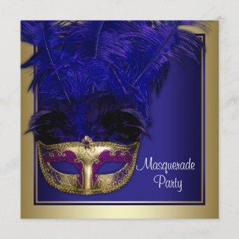 Royal Blue Gold Masquerade Party