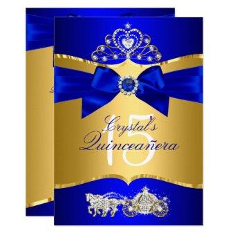 Royal Blue Gold Tiara Pearl Bow