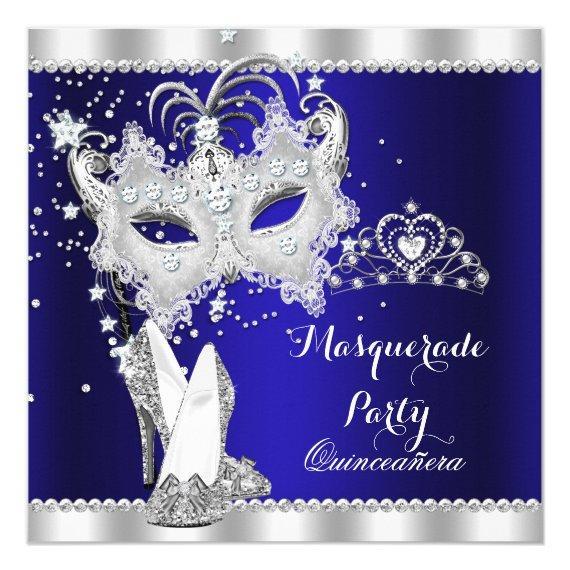 Royal Blue Masquerade Mask Hi Heels