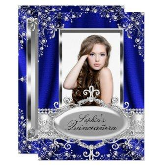 Royal Blue Pearl Silk Vintage Glamour