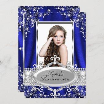 Royal Blue Pearl Silk Vintage Glamour