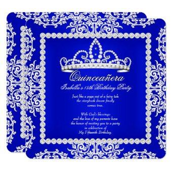 Royal Blue 15th Birthday Party Tiara