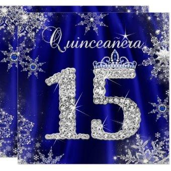 Royal Blue 15th Elite Elegant Birthday