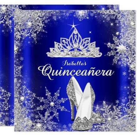Royal Blue Silver Tiara 15th Birthday