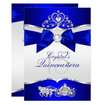 Royal Blue Silver Tiara Pearl Bow