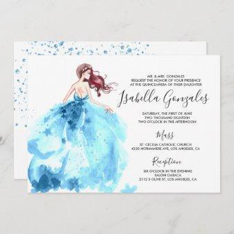 Royal Blue Sparkle Dress Quinceañera