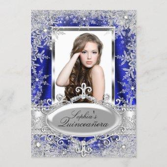 Royal Blue Sparkle Jewel Snowflake