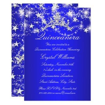 Royal Blue Sparkle Tiara Stars