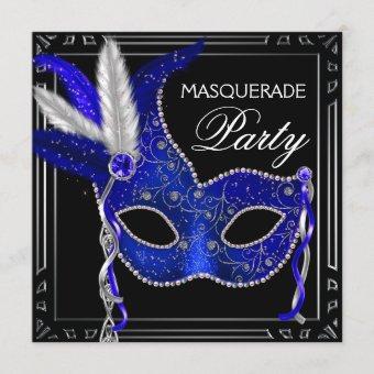 Royal Navy Blue Mask Masquerade Party