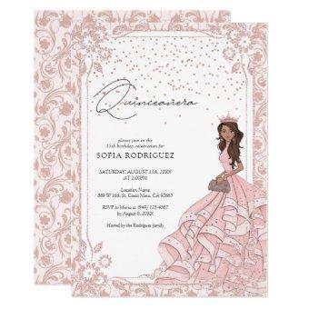 Royal Pink Rose Gold Dress Birthday