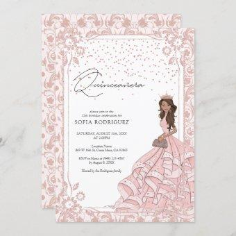 Royal Pink Rose Gold Dress Birthday