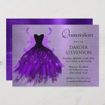 Royal Purple Iridescent Fairy Gown