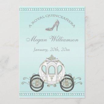 Royal Quinceañera Princess Coach & Sparkle Heels