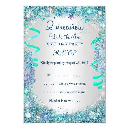 RSVP Blue Under The Sea 15th Birthday