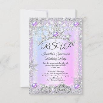 RSVP Lavender purple Winter Carriage