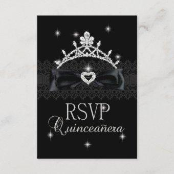 RSVP Reply Response Party Black Lace