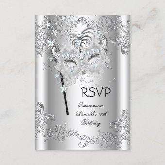 RSVP Silver 15th Birthday Masquerade