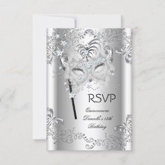 RSVP Silver 15th Birthday Masquerade