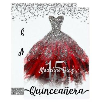 Ruby Red Quinceañera Dress Birthday