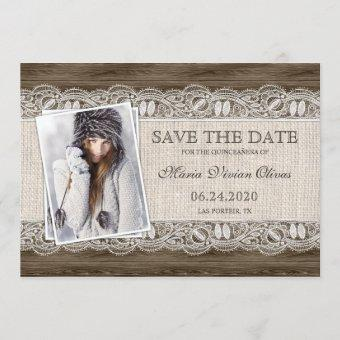 Rustic Country Photo Save The Date
