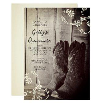 Rustic Cowboy Boots Western Party