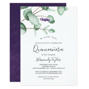 Rustic Lavender and Eucalyptus Quinceañera