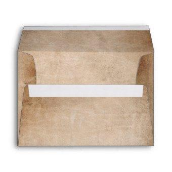 Rustic Vintage Parchment Return Address Envelope