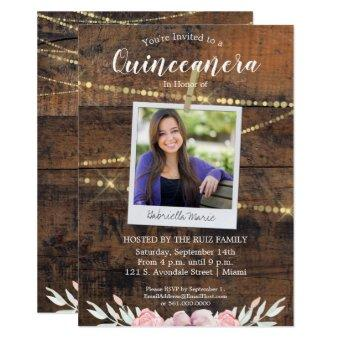 Rustic Western Quinceañera 15th Birthday Photo