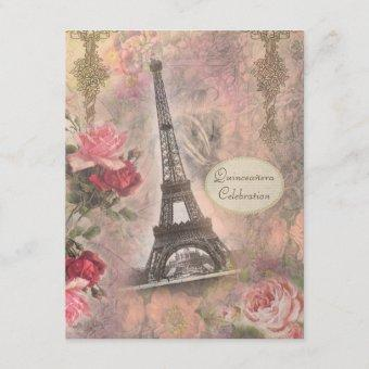 Shabby Chic Eiffel Tower & Roses