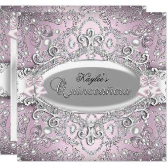 Silver & Pink Damask Pearl