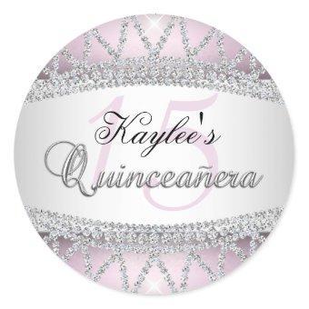 Silver & Pink Diamond Sticker