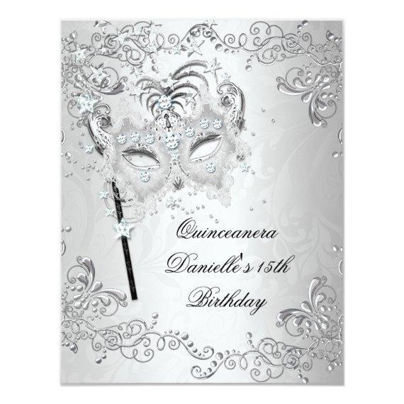 Silver 15th Birthday Masquerade