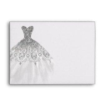 Silver Sparkle Diamond Dress Envelope