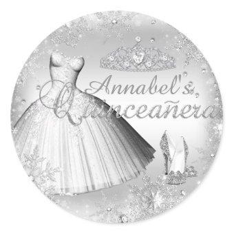 Silver Sparkle Dress & Tiara Sticker