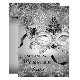 Silver Sparkle Snowflake Masquerade