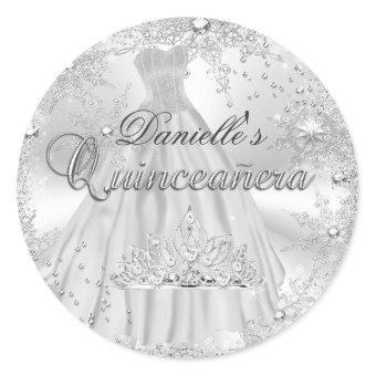 Silver Sparkle Snowflake Sticker