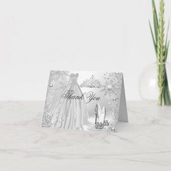 Silver Sparkle Snowflake Thank You