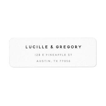 Simple Modern Custom Return Address Label