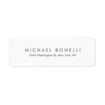 Simple Plain Minimalist Elegant Modern White Label
