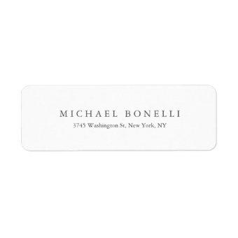 Simple Plain Modern Elegant Return Address Label