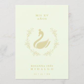 Spanish Yellow & Gold Romantic Swan