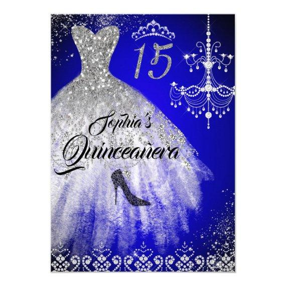 Sparkle Diamond Dress Blue Silver