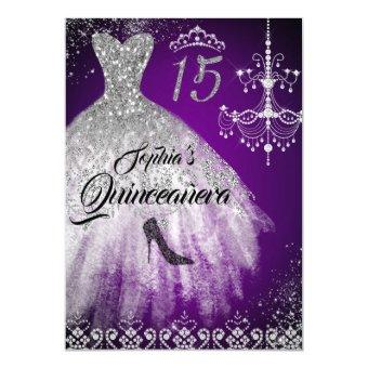 Sparkle Diamond Dress Purple Silver