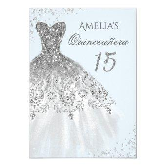 Sparkle Dress Blue Silver