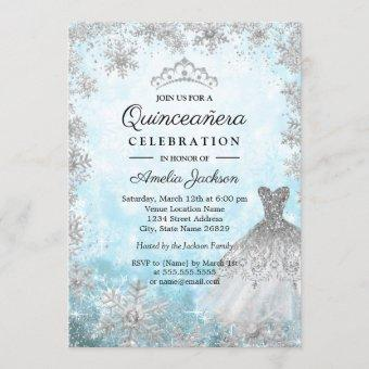 Sparkle Dress Blue Snowflakes Winter