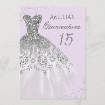 Sparkle Dress Purple Silver