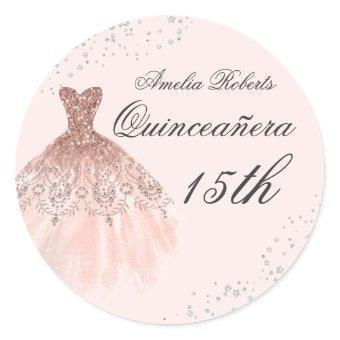 Sparkle Dress Rose Gold Sticker