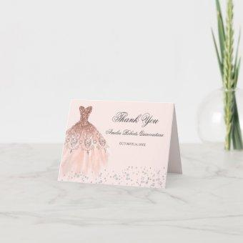 Sparkle Dress Rose Gold Thank You