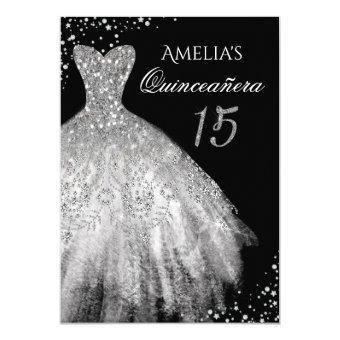 Sparkle Dress Silver Black